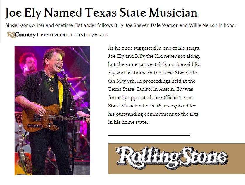 Joe Ely Texas State Mucician